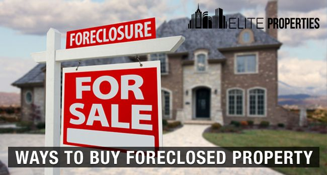 Ways to buy foreclosed property